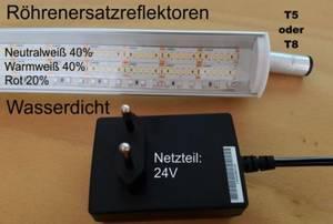 LED-Röhrenersatzreflektoren - mit und ohne RGB